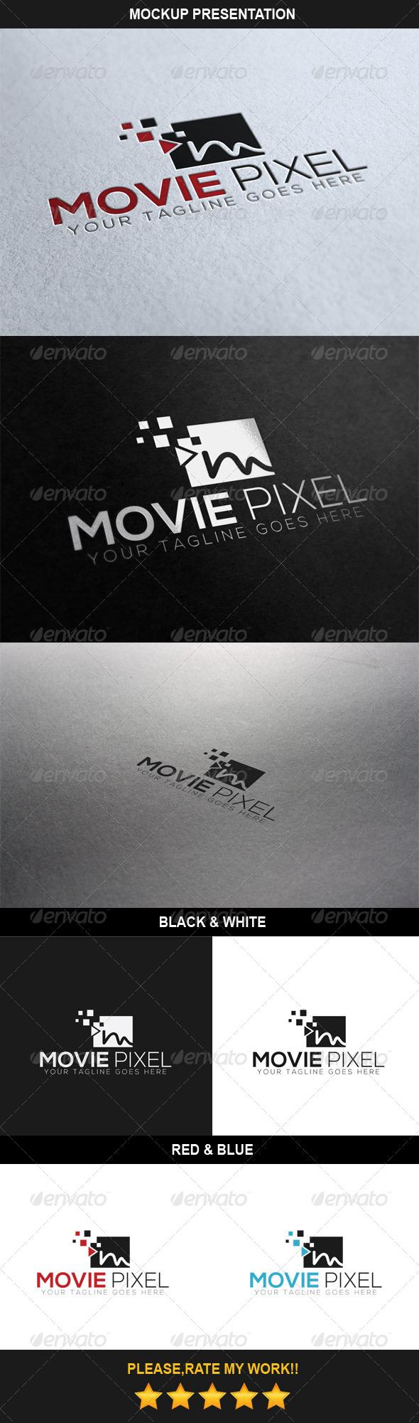 Movie Pixel Logo