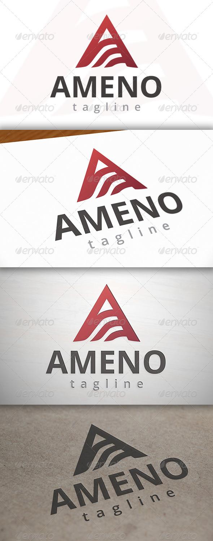 Ameno A Letter Logo