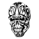Tribal Skull Tattoo Design - GraphicRiver Item for Sale