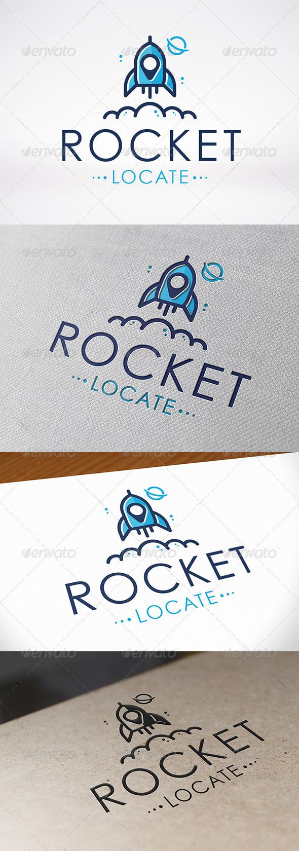 Rocket Locator Logo Template