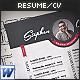 3-Piece Resume / CV Set - GraphicRiver Item for Sale