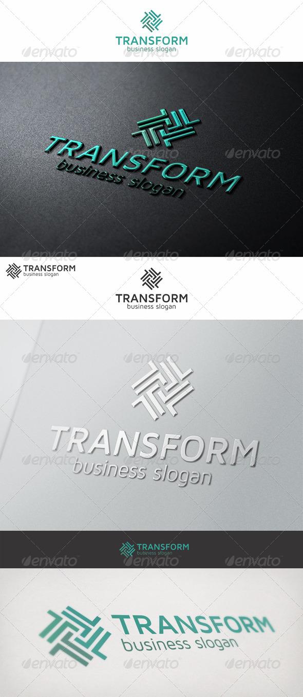 Transform Logo Letter T