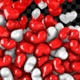 Red and White Heart Falling - VideoHive Item for Sale