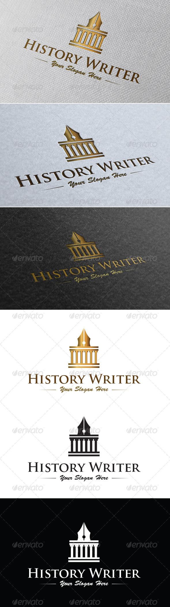 History Writer Logo Template