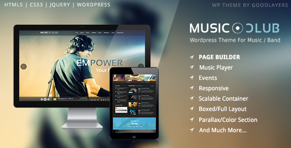 Music Club - Band | Party Wordpress