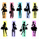 Silhouettes of Women Shopping - GraphicRiver Item for Sale