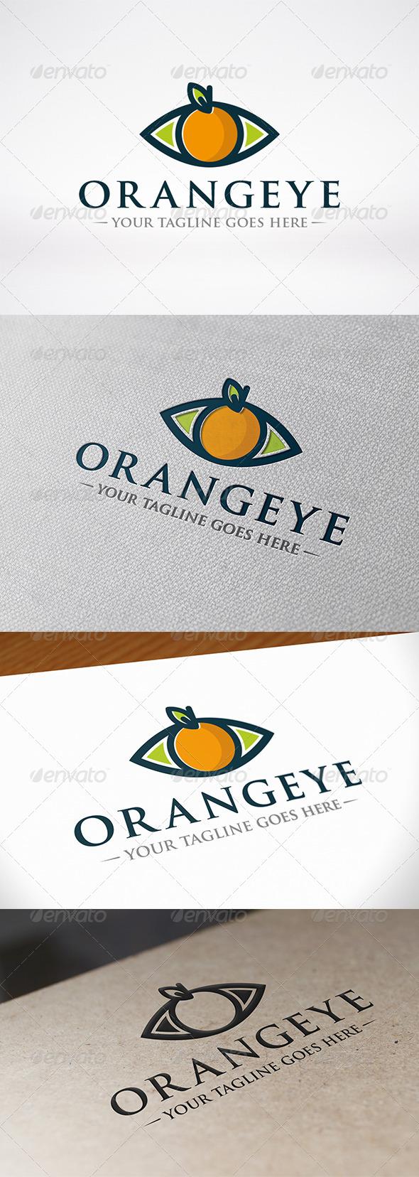 Orange Eye Logo Template