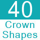 40 Custom Crown Shapes - GraphicRiver Item for Sale