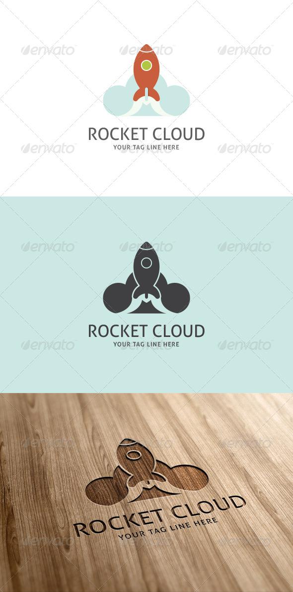 Rocket Cloud Logo Template