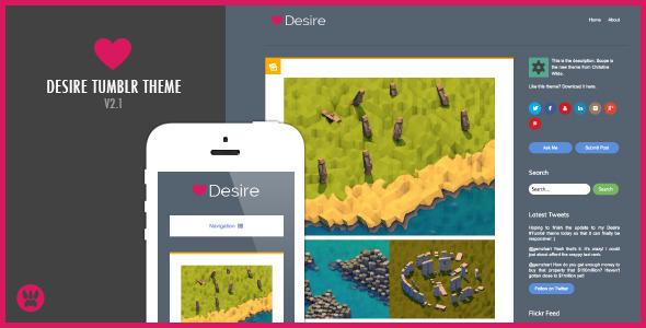 Desire - A Responsive Tumblr Theme