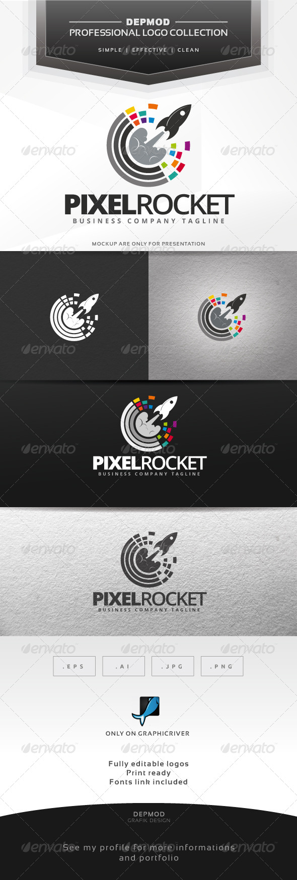 Pixel Rocket Logo
