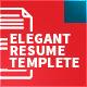 Elegant Resume Templete   5 Pages - GraphicRiver Item for Sale