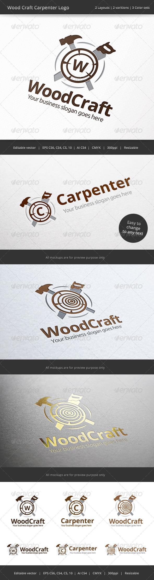 Carpenter Wood Craft Logo
