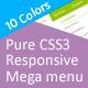Pure CSS3 Responsive Mega menu - CodeCanyon Item for Sale
