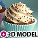 3 cupcakes 3d models - 3DOcean Item for Sale