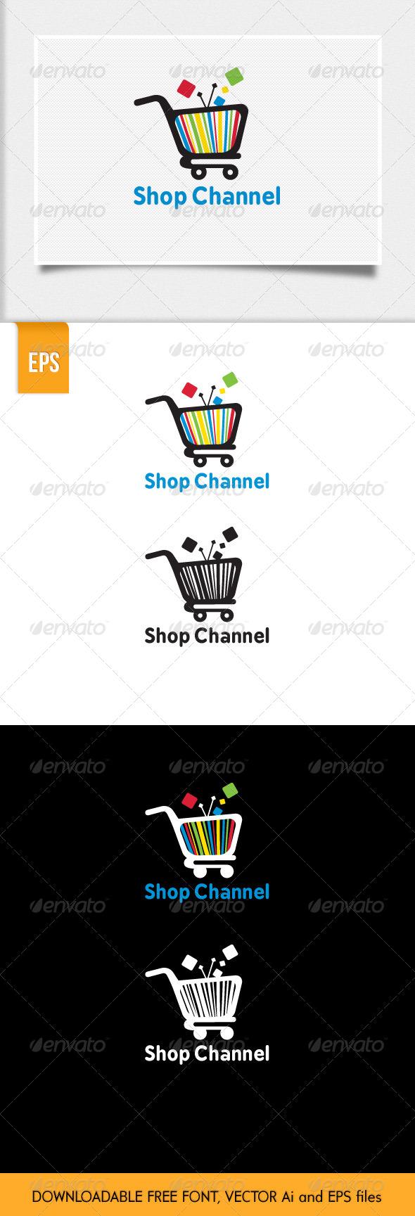 Shop Channel Logo Template