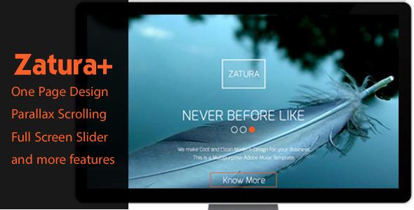 Zatura – One Page Parallax Corporate Muse Theme