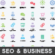 Seo and Business Services Icons - GraphicRiver Item for Sale