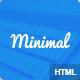 Minimal Responsive HTML5 Blog template - ThemeForest Item for Sale