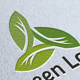 Tri Green Leaf Logo - GraphicRiver Item for Sale