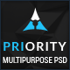 Priority | MultiPurpose PSD - ThemeForest Item for Sale