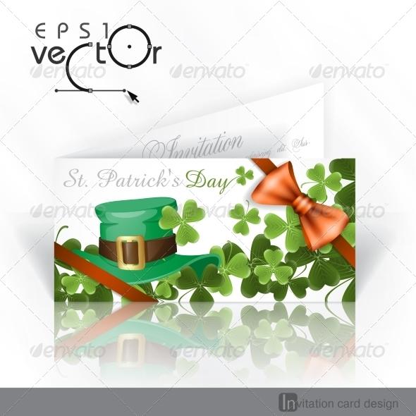 Patrick's Day Background With Leprechaun Hat