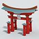Cartoon Japan Torii - 3DOcean Item for Sale