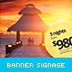 Travel & Hotel Banner Roll-Up - GraphicRiver Item for Sale