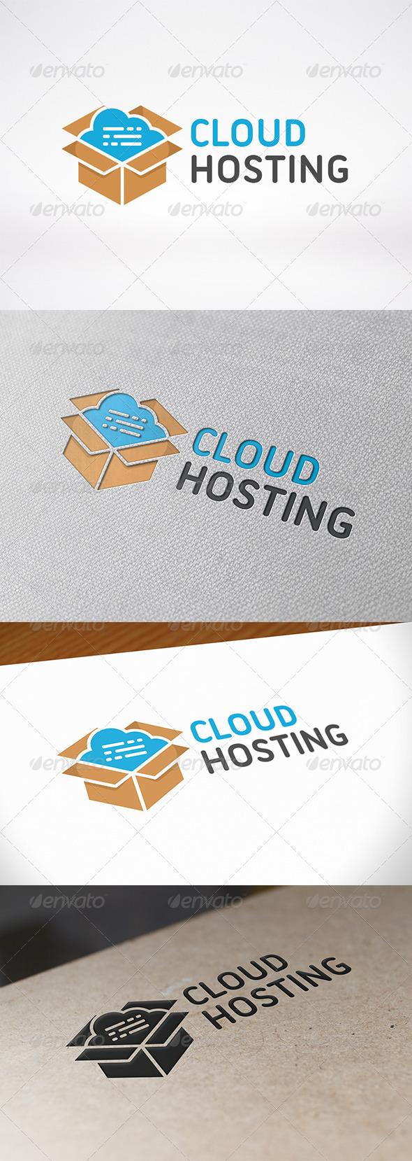 Cloud Box Logo Template