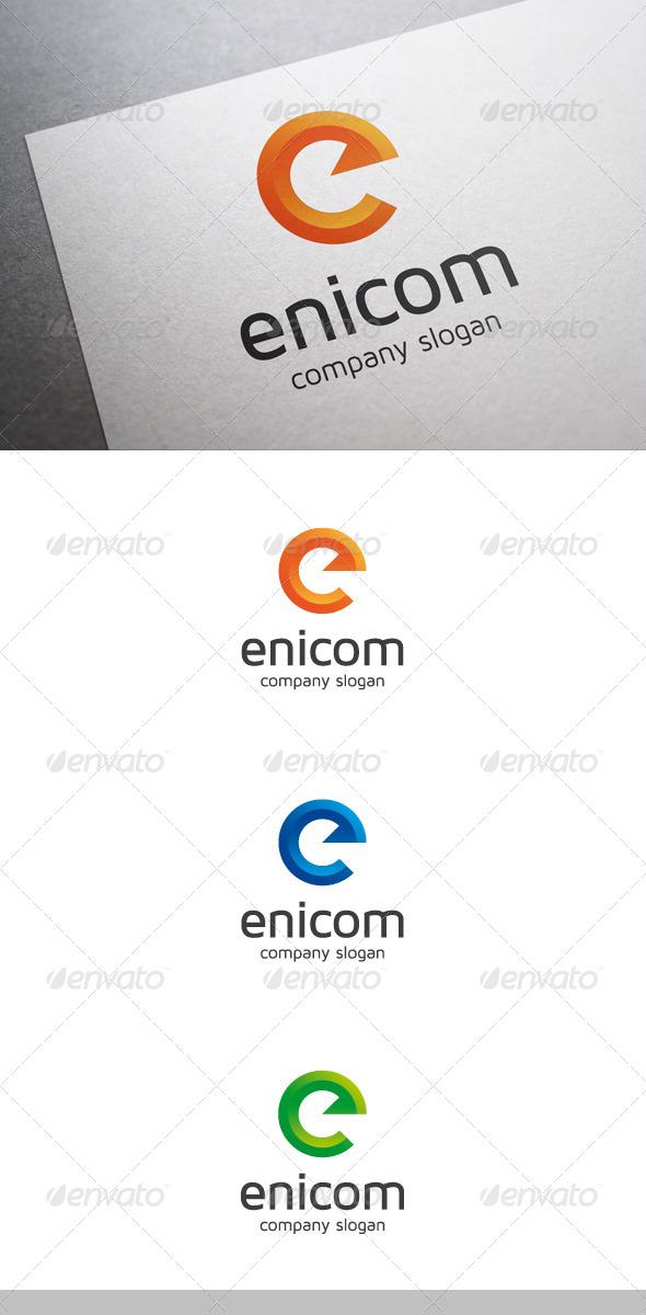 Enicom E Letter Logo