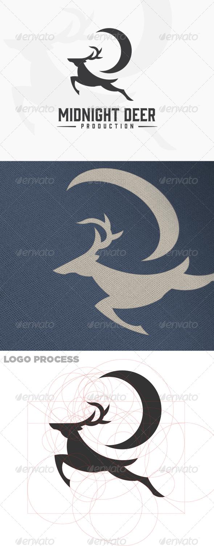 Midnight Deer Production - Male Deer Logo