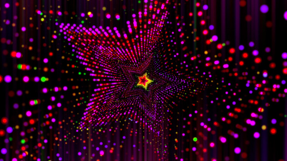 VJ Colorful Star Flow