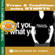 Terms & Conditions using WYSIWYG
