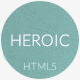 Heroic - Creative + Modern One Page HTML Template - ThemeForest Item for Sale