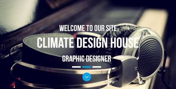 Climate - One Page Parallax Muse Template