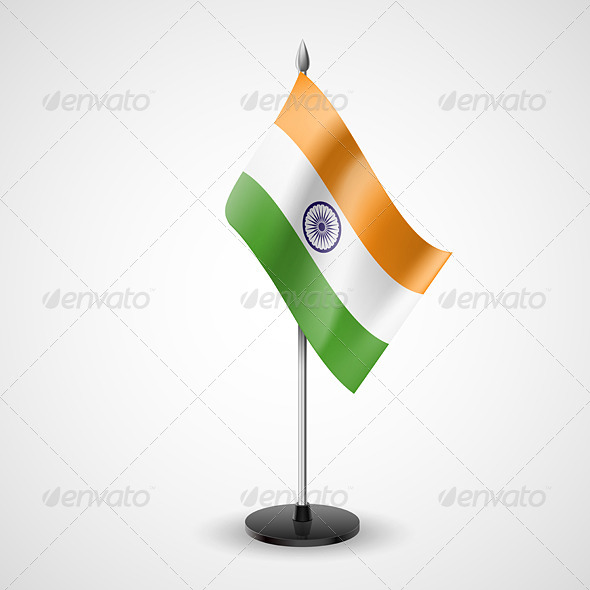 Table Flag of India