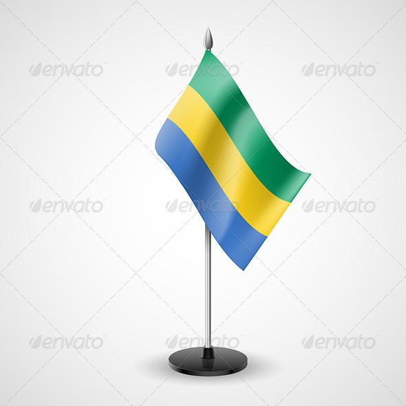 Table Flag of Gabon