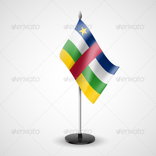 Table Flag of Central African Republic