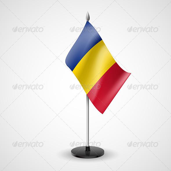 Table Flag of Romania