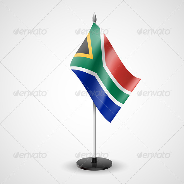 Table Flag of South Africa