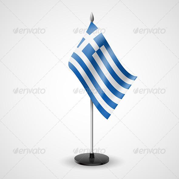 Table Flag of Greece