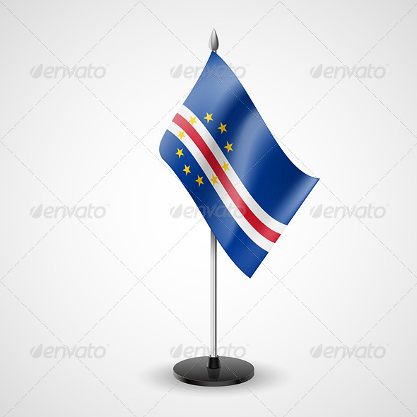 Table Flag of Cape Verde