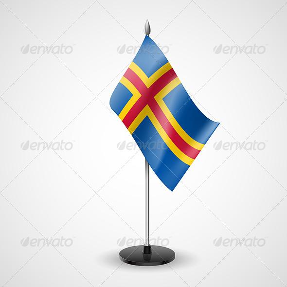 Table Flag of Aland Islands