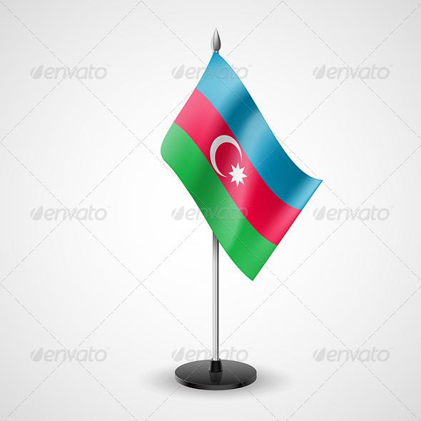 Table Flag of Azerbaijan