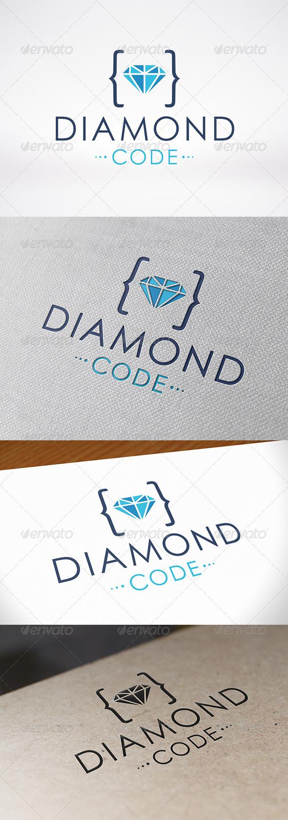 Code Diamond Logo Template
