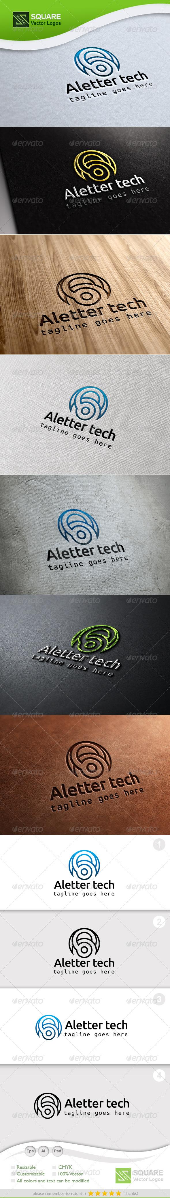 A, Technology Vector Logo Template