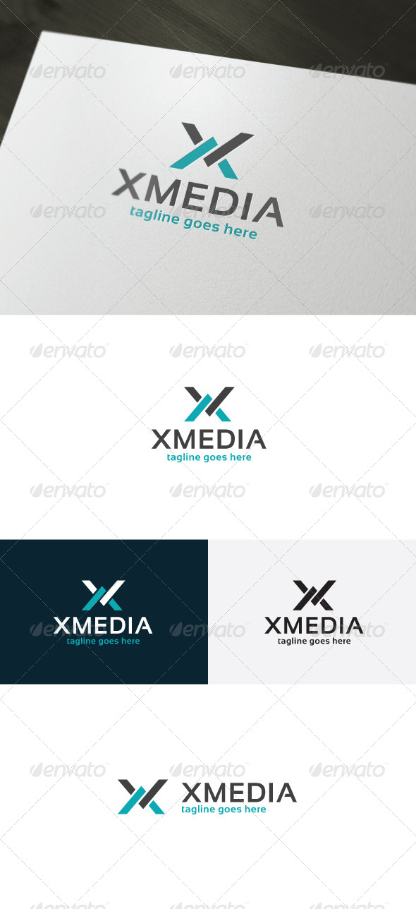 Xmedia Logo — Letter X