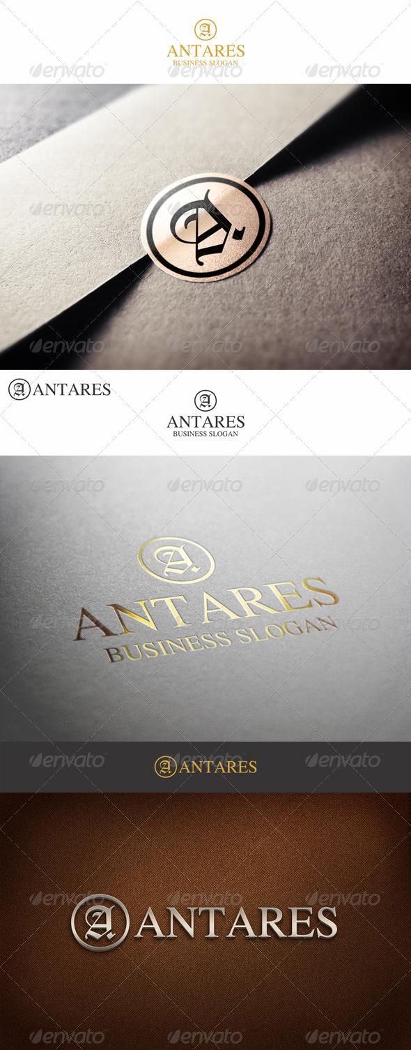 Fashion Monogram Letter A - Antares
