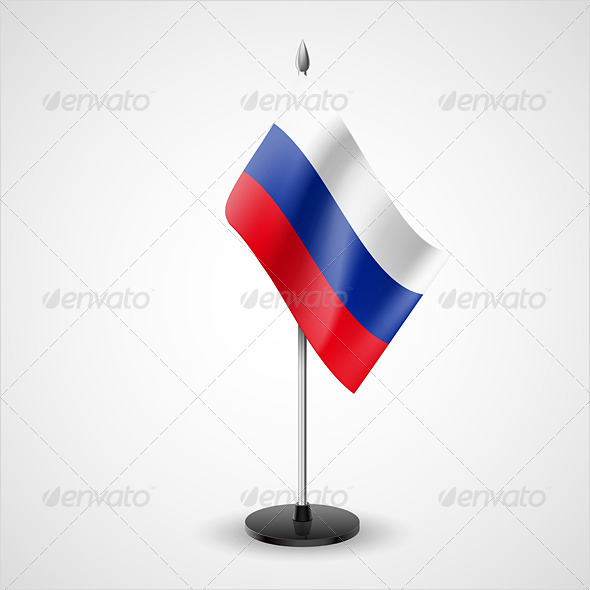 Table Flag of Russian Federation