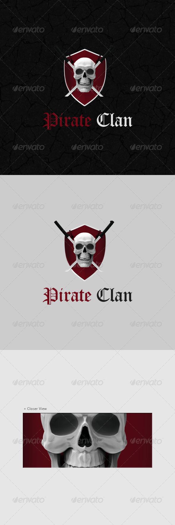 Pirate Logo 3D